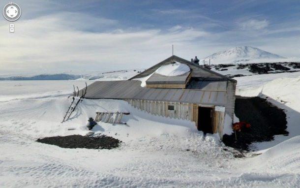 Scott's Hut, Antarctica Google Street View